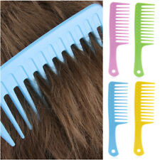 -Hairdressing Salon Plastic anti-static handle wide Tooth Hair Comb Detangling-