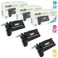 LD Remanufactured Lexmark X792 3PK EHY Toners:  X792X1CG/X792X1MG/X792X1YG