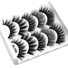 3D Mink Hair False Eyelashes Natural/Thick Long Eye Lashes Wispy Makeup 15Pairs