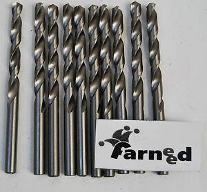 PUNTE PER TRAPANO ACCIAIO TITANIO COBALTO per metallo set 10 pz 4mm farneed