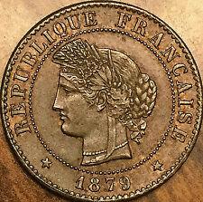 1879 A CÉRÈS 1 CENTIME FRANCE COIN RÉPUBLIQUE FRANÇAISE