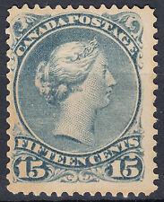 Canada 15c Large Queen PLATE CRACK, Scott 30viii, F MHR OG, catalogue - $1,800