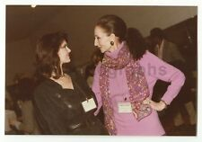Jacqueline de Ribes & Lynda Carter - Original Vintage Photo Peter Warrack