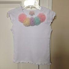 NWOT Oopsy Daisy Baby Rainbow Rosette Cap-Sleeve Tee size  8