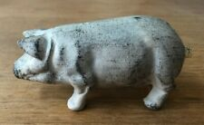 Vintage Solid Cast Iron White Pig