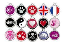Pendentif / Médaille gravée personnalisée pour chat en acier 15 motifs RED DINGO