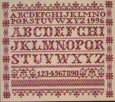 Stickvorlage  Kreuzstich,  Stickmustertuch Mustertuch  Landhaus Alphabet ABC