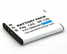 Battery for Casio NP-120 BC-120L Exilim EX-ZS20WE EX-ZS26 EX-ZS26SR EX-ZS26WE