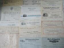 22 Old & Antique Nova Scotia Businesses Letterheads 1900-1950