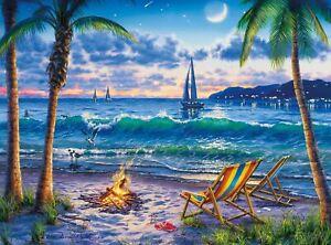 "Buffalo Games Darrell Bush Coastal Twilight 1000pcs Jigsaw Puzzle 26.75""x19.75"""
