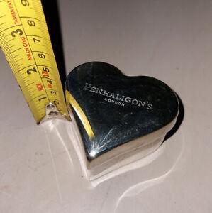 Penhaligons Heart Shaped Silver Plated Small Lidded Trinket Dish
