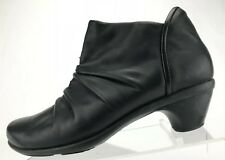 Naot Ankle Boots Fashion Black Leather Side Zip Slouch Booties Womens 40 9,9.5