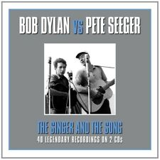 BOB & SEEGER,PETE DYLAN - THE SINGER & THE SONG 2 CD NEUF