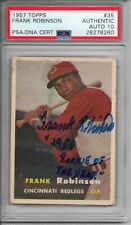 Frank Robinson 1956 Rookie Of The Year Signed 1957 Topps - PSA DNA 10