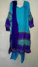 Bollywood Indisch Salwar Kameez Kleid Anarkali Abendkleid Dupatta Schal Hochzeit