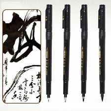 4pcs Chinese Japanese Calligraphy Shodo Brush Ink Pen Writing Painting Tool Gift