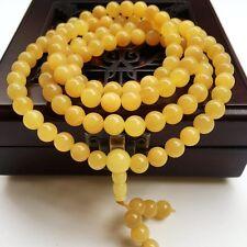 8mm Nature Golden Tridacninae (Giant Clam,tridacna) Mala Prayer 108*bead Bangle