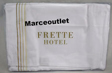 Frette Cruise Collection Sateen STANDARD Embroidered Pillowcases White / Beige