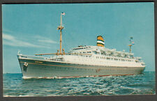 unmailed post card Holland America Line ship SS Ryndam /tourist travel