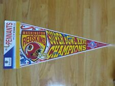 "WASHINGTON REDSKINS SUPER BOWL XXVI Champions 30"" PENNANT MARK RYPIEN MVP"