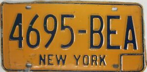 NEW YORK licence/number plate US/United States/USA/American 4695 BEA