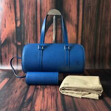 NEW Vintage Louis Vuitton Papillon Soufflot Blue Epi Shoulder Bag