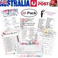 Bridal Shower Games Card Kit Bridal Shower Hens Night Party Fun Novelty Supplies