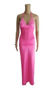 SALE! Exotic Dancer Sexy Stripper Hot Pink Mesh Panel Gown Dress - SMALL