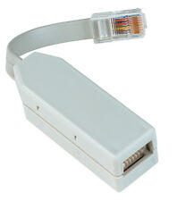 WHITE LAU/2 LINE ADAPTER - BT SOCKET TO RJ45 8P8C PLUG (MASTER) ADAPTER