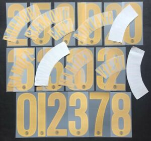 INTER KIT e NUMERI UFFICIALI 2004-2006 3RD OFFICIAL NAMESET and NUMBERS