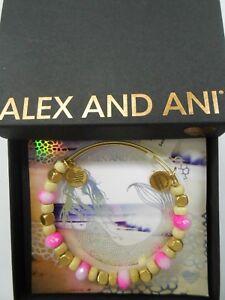 Alex And Ani Sorbet Dragonfruit Expandable Bangle Bracelet Rafaelian Gold NWTBC