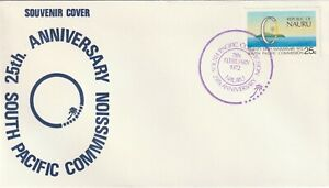1972 Nauru FDC cover 25th Anniversary South Pacific Commission