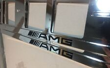 2 X MERCEDES BENZ AMG CLK  EUROPEAN LICENSE NUMBER PLATE SURROUND FRAME HOLDER