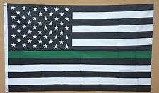 THIN GREEN LINE 3'x5' FLAG BORDER PATROL MILITARY LIVES MATTER SUPPORT BANNER