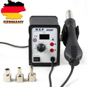 WEP 858D+SMD Heat Gun Hot Air Rework Soldering Station 3 Nozzles 220V 700W NEW