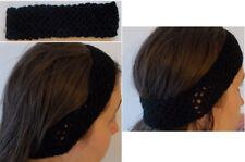 HANDMADE Crochet Mash Diadema Negro