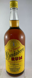 The Famous Bundaberg Rum, 1125ml UP, Bear Zero Stunning Condition for age