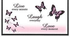 LIVE, LAUGH, LOVE PINK BUTTERFLIES #2