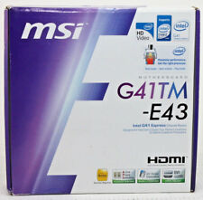 G41TM-E43 MSI Intel G41 LGA775 1600FSB DDR2 Micro-ATX Motherboard NEW - Free S&H