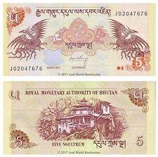 Bhutan 5 Ngultrum 2011  P-28b  Banknotes  UNC