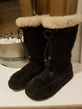 AUTHENTIC UGG  AUSTRALIA SUBURB CROCHET BLACK  SIZE  37  uk 4.5 us6