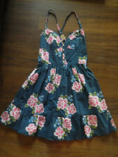 Hollister womens NAVY FLORAL Dress, size XS NWT