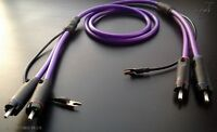 SILVERCORD PLUS  Pure, solid OCC Silver – StarQuad tonearm cable - 1m - RCA-RCA