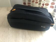 FCUK SPORT Zip Wash/Toilet Bag Black & orange Perfect Christmas Present New