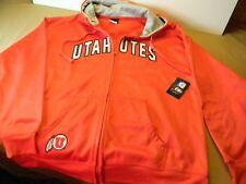 TSI Sportswear UTAH UTES Hoodie Jacket, full zip 100% polyester, XL, NWT