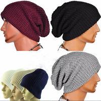 Trendy! Chic Men Knitting Slouchy Beanie Cap Baggy Winter Hat Oversize Unisex