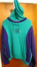 LAGUNA STYLE FUNCTION vtg hooded sweatshirt lrg hoodie 1980s turquoise 2-tone
