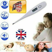 Digital LCD Thermometer Medical Suitable-for-All Safe Ear Mouth Temperature UK
