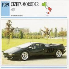 1989 CIZETA MORODER V16T Classic Car Photo/Info Maxi Card