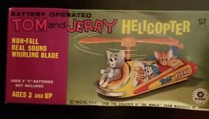 Vintage Trade Mark Masudaya Tom and Jerry Helicopter